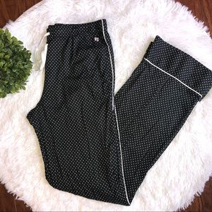 Victoria's Secret Black Polka Dot Pajama Pants